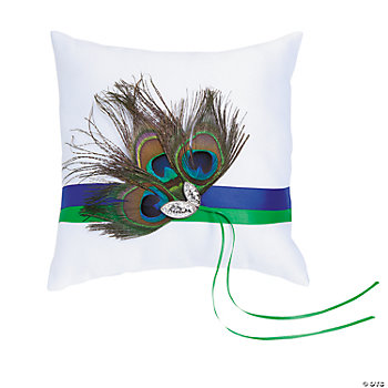 Peacock Wedding Ring Pillow