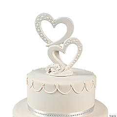 Double Heart Cake Topper