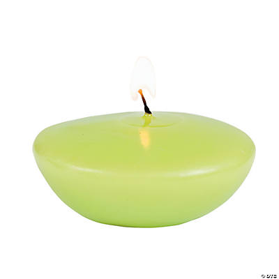 Lime Green Floating Candles