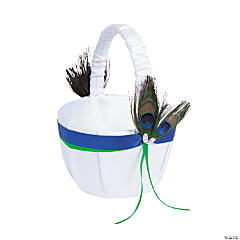 Peacock Flower Girl Basket