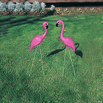Pink Flamingo Yard Ornaments Oriental Trading