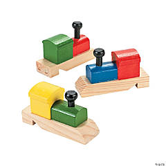 Wooden Train-Shaped Whistles