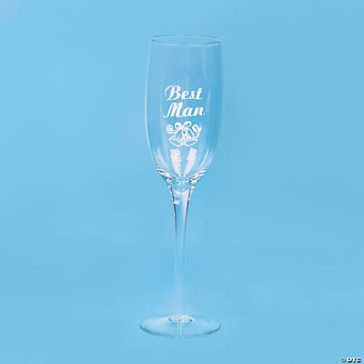 Best Man Champagne Flute - Less Than Perfect