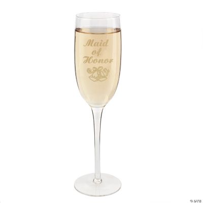"""""""Maid of Honor"""" Wedding Champagne Flute"""