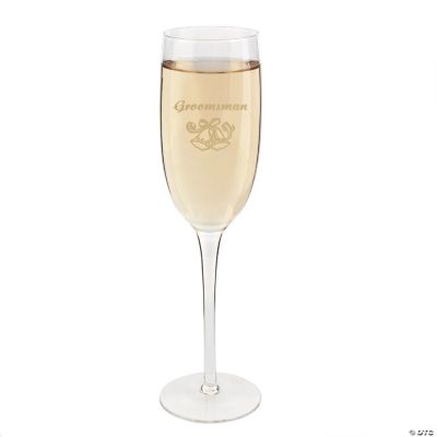 Groomsman Champagne Flute