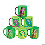 Neon Monkey Tail Handle Mugs
