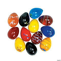 Mini Solid Glass Easter Eggs