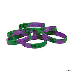 Mardi Gras Sayings Bracelets