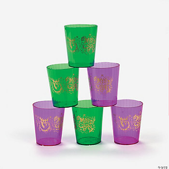 Mardi Gras Shot Glasses