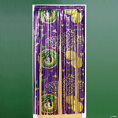Mardi Gras Printed Door Curtain