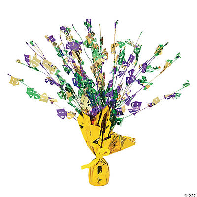 Mardi Gras Foil Burst Table Decoration