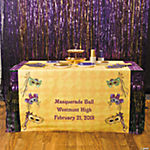 Personalized Masquerade Table Runner