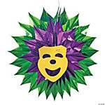 Mardi Gras Mask Burst Hanging Decoration