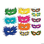 Mardi Gras Feather Half Masks