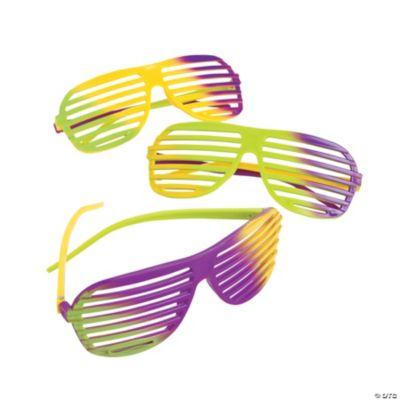 Mardi Gras Shutter Shading Glasses