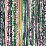 Plastic Mardi Gras Beaded Necklace Assortment