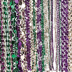 Plastic Mardi Gras Beads Assortment