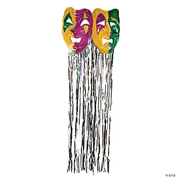 Mardi Gras Mask With Fringe Curtain