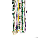 Plastic Metallic Mardi Gras Bead Assortment