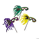 Mardi Gras Feather Masks