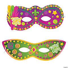 Mardi Gras Mask Sticker Scenes