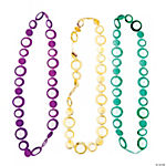 Circle Mardi Gras Beaded Necklaces