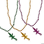 Alligator Charm Mardi Gras Beads