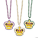 Mardi Gras Beads With Crown
