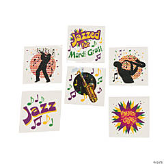 Mardi Gras Jazz Tattoo Assortment