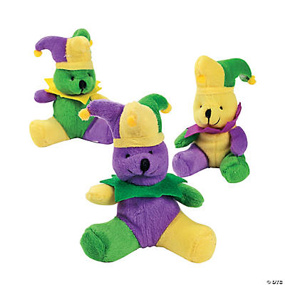 Plush Mardi Gras Bears