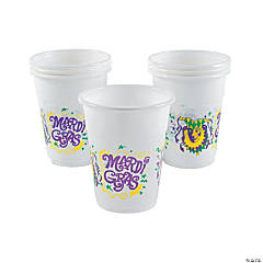 Mardi Gras Disposable Plastic Cups