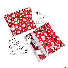 Dominoes with Valentine Case