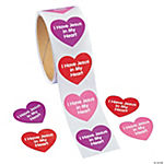 """I Have Jesus In My Heart"" Roll Stickers"
