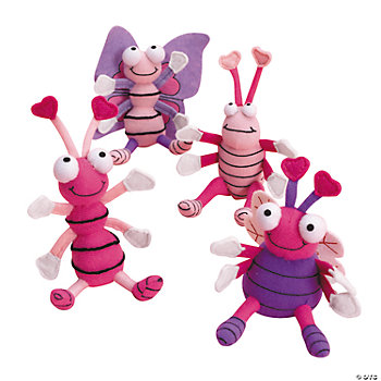 Plush Valentine Bug-Eyed Bugs