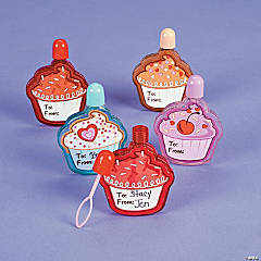 Flat Cupcake Bubble Bottles