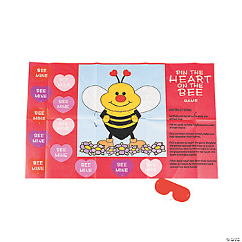 "Valentine ""Pin The Heart On The Bee"" Game"