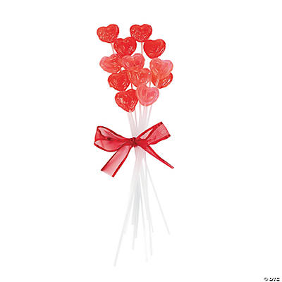 Heart Sucker Valentine Candy Bouquet