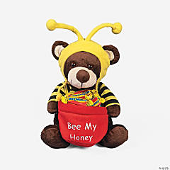 "Plush Valentine ""Bee My Honey"" Bear"