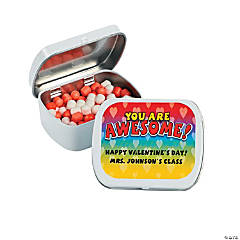 Personalized Valentine Candy Tins