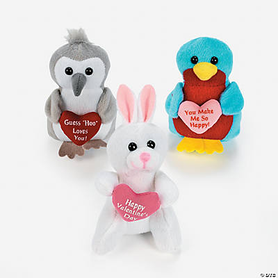 Plush Woodland Characters Valentine Assortment