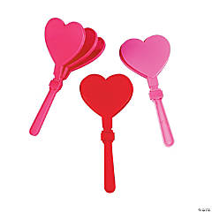 Heart-Shaped Valentine Hand Clappers