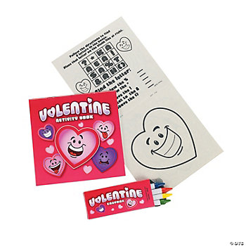 Valentine Activity Books With Crayons