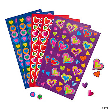 Valentine Heart Sticker Sheets