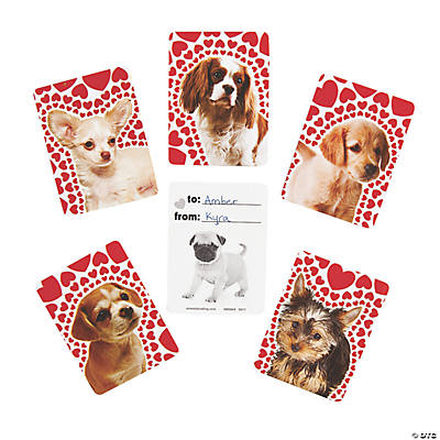 Puppy Love Photo Valentine Cards