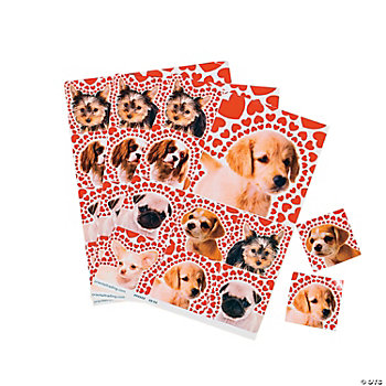 Valentine Puppy Love Sticker Sheets