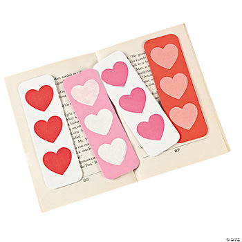 Heart Print Bookmarks