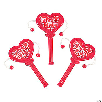 Mini Heart-Shaped Noisemakers