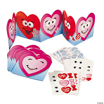 Heart Characters Make-A-Sticker Scene Accordions