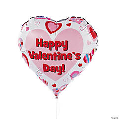 """Happy Valentine's Day"" Mylar Balloons"