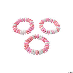 Stretchable Heart-Shaped Valentine Candy Bracelets